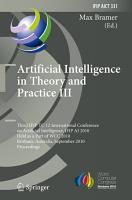 Artificial Intelligence in Theory and Practice III PDF