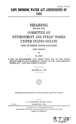 Safe Drinking Water Act Amendments of 1993