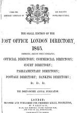 The Post Office London Directory