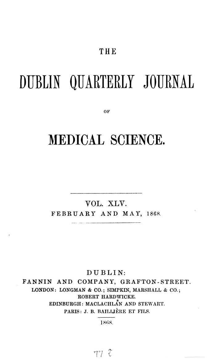 Dublin quarterly journal of medical science