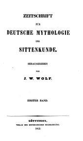 Zeitschrift für deutsche Mythologie und Sittenkunde