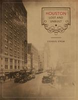Houston Lost and Unbuilt PDF