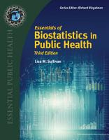 Essentials of Biostatistics in Public Health PDF