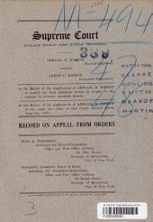 Supreme Court Appellate Division First Judicial Department