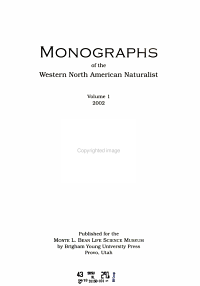 Monographs of the Western North American Naturalist