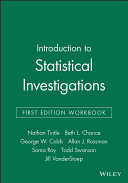Introduction to Statistical Investigations  First Edition Workbook PDF