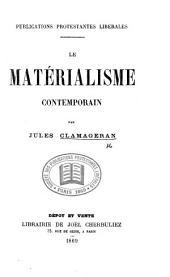Le matérialisme contemporain