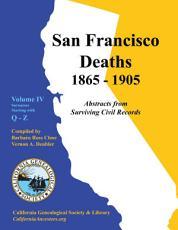San Francisco Deaths,1865-1905
