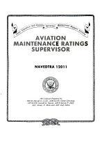 Aviation Maintenance Ratings Supervisor