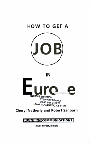 How to Get a Job in Europe PDF