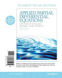 Applied Partial Differential Equations with Fourier Series and Boundary Value Problems  Books a la Carte