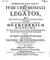 De jure ceremoniali circa legatos. resp.: Simone Petro Gasser