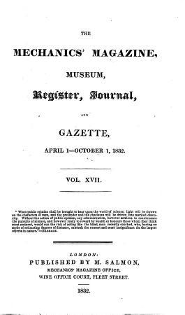 The Mechanics  Magazine  Museum  Register  Journal  and Gazette PDF