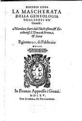 Discorsi sopra la Mascherata, della Genealogia degl'Iddei de'Gentili