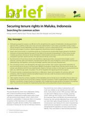 Securing tenure rights in Maluku, Indonesia: Searching for common action