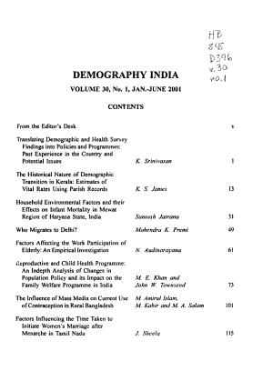 Demography India PDF