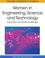 Women in Engineering  Science and Technology  Education and Career Challenges PDF