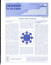 Factfinder for the Nation: Foreigh Trade Statistics