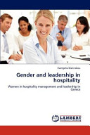 Gender and Leadership in Hospitality