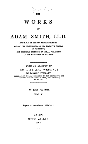 Considerations concerning the formation of languages  Essays on philosophical subjects  Account of the life and writings of Dr  Smith