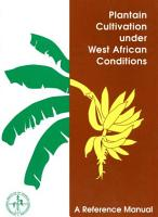 Plantain Cultivation Under West Africa Conditions PDF
