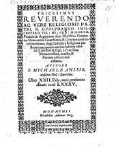 Tricesimus, Reverendo P. Guolphgango Smilchofera habitus amoris et memoriae ergo a Fratribus Monacensibus