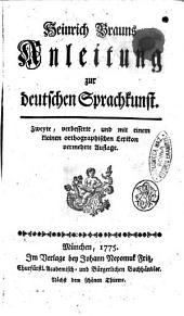 Heinrich Brauns Anleitung zur deutschen Sprachkunst