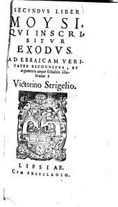 Moysus: Ad Ebraicam Veritatem Recognitvs Et argumentis atque scholiis illustratus. Qvi Inscribitvr Leviticvs, Volume 3