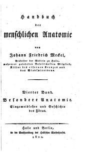 Handbuch der menschlichen Anatomie: Band 2