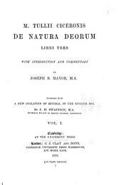 M. Tullii Ciceronis De natura deorum ...