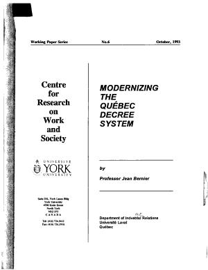 Modernizing the Qu  bec decree system