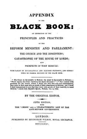 Appendix to the Black Book     Fifth edition  with the  Crisis  and a characteristic list of the anti reform government PDF