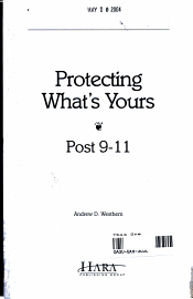 Protecting What S Yours  Post 9 11