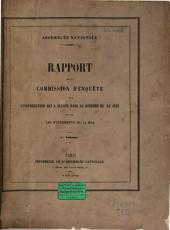 Rapport de la Commission d'Enquête sur l'insurrection qui a éclaté dans la journée du 23 juin et sur les événements du 15 mai