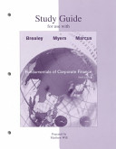 Study Guide for Use with Fundamentals of Corporate Finance  Third Edition