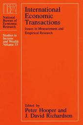 International Economic Transactions: Issues in Measurement and Empirical Research