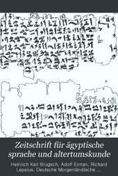 Zeitschrift für ägyptische sprache und altertumskunde: Bände 38-39