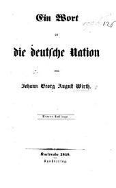 Ein Wort an die deutsche Nation. Vierte Auflage