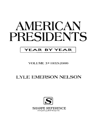 American Presidents  1933 2000 PDF