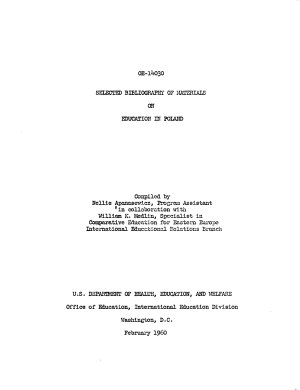 Selected Bibliography of Materials on Education in Poland PDF