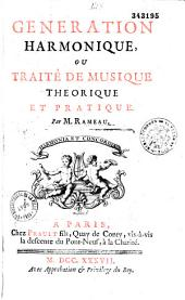 Génération harmonique ou traité de musique théorique et pratique