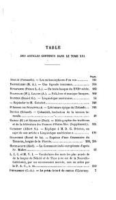 Revue de linguistique et de philologie comparée: Volumes21à22