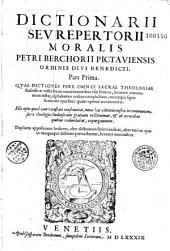 Dictionarium seu repertorium morale