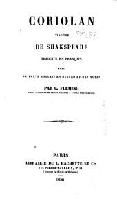 Coriolan: tragédie de Shakspeare