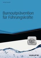 Burnoutpr  vention f  r F  hrungskr  fte  inkl  eBook   Arbeitshilfen online PDF