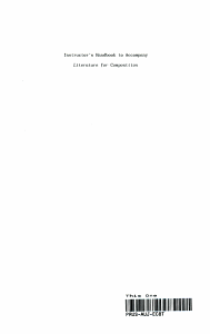 Instructor s Handbook to Accompany Literature for Composition
