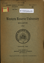 Western Reserve University Bulletin: Volume 10, Issue 3