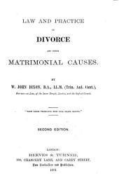 Law and Practice in Divorce and Other Matrimonial Causes