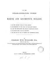 On the steam generating power of marine and locomotive boilers