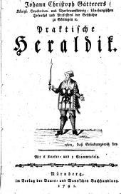 Johann Christoph Gatterers Praktische Heraldik